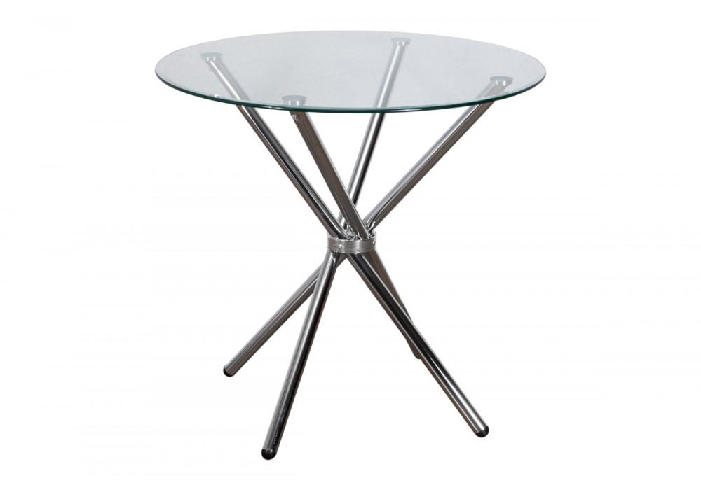 Стол SELIA, ф800*760*8мм, стекло/хром