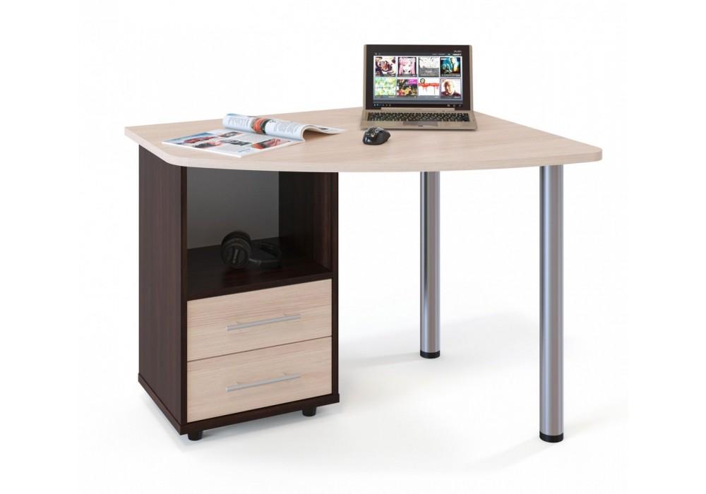 Стол компьютерный Сокол КСТ-102 венге/беленый дуб левый