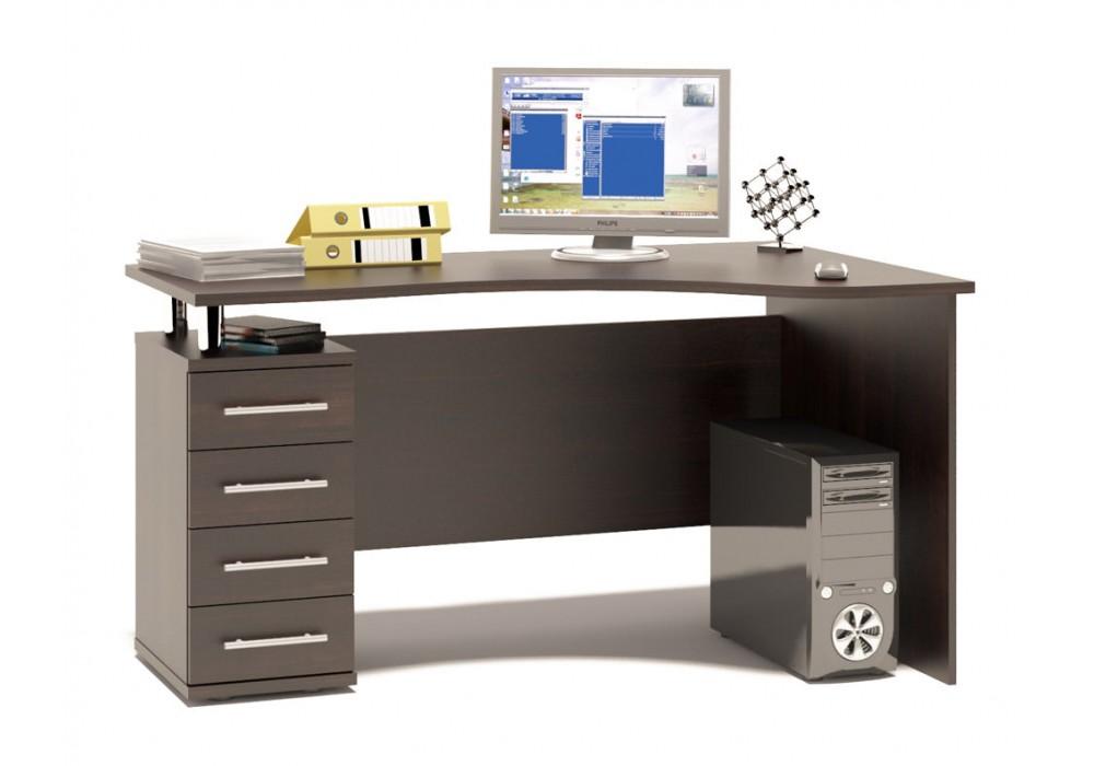 Стол компьютерный Сокол КСТ-104.1 венге левый