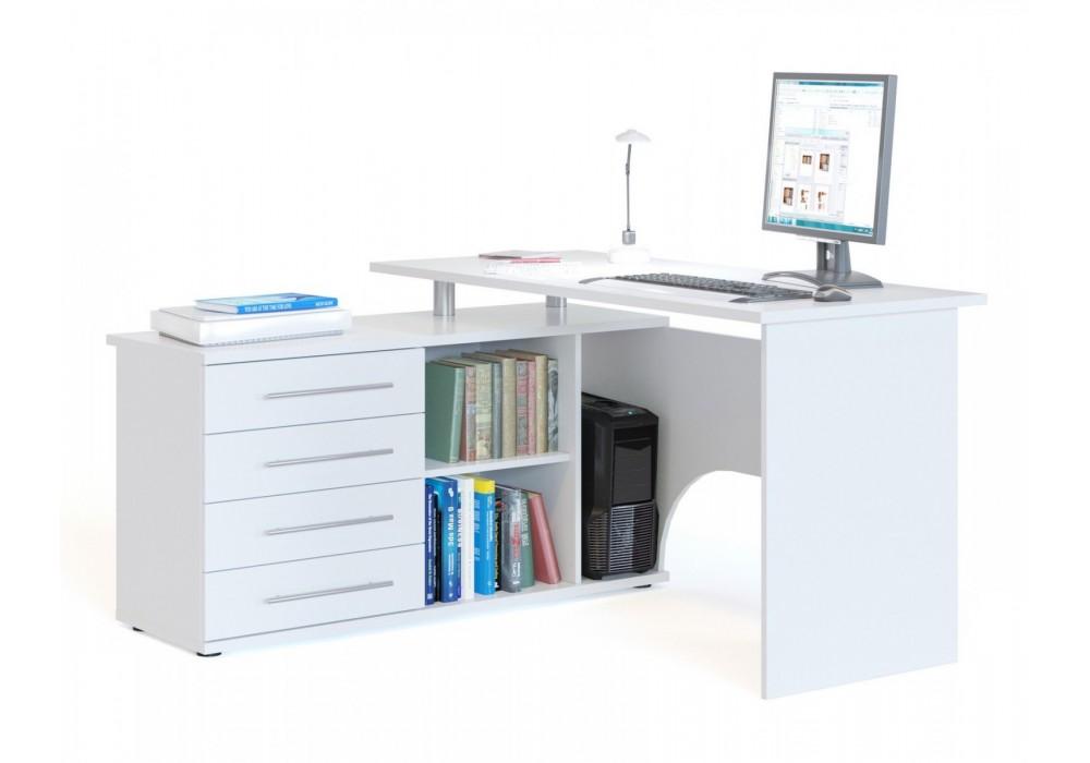 Стол компьютерный Сокол КСТ-109Л белый левый