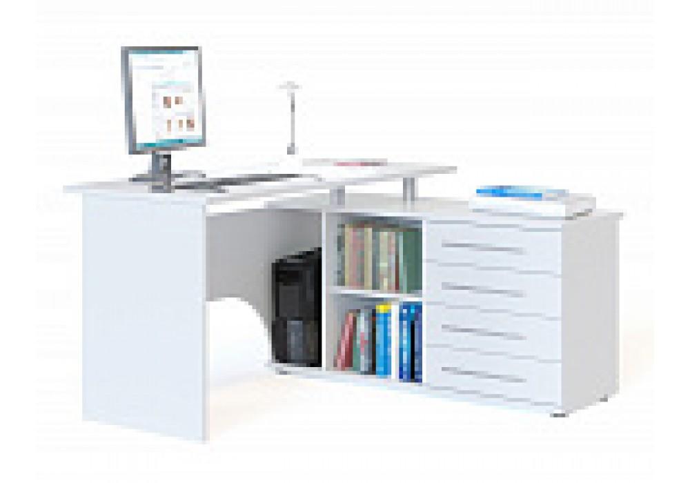 Стол компьютерный Сокол КСТ-109П белый правый