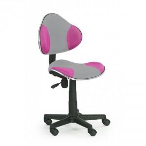 Кресло компьютерное HALMAR FLASH 2 серо\розовое