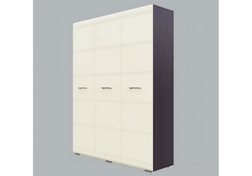 Шкаф ПХМ (Модульная система К №1) дуб венге/жемчуг, трехстворчатый