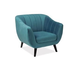 Кресло SIGNAL ELITE 1 VELVET Bluvel85, бирюзовый