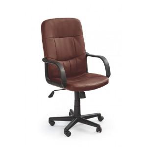 Кресло компьютерное HALMAR DENZEL экокожа, т.коричневое