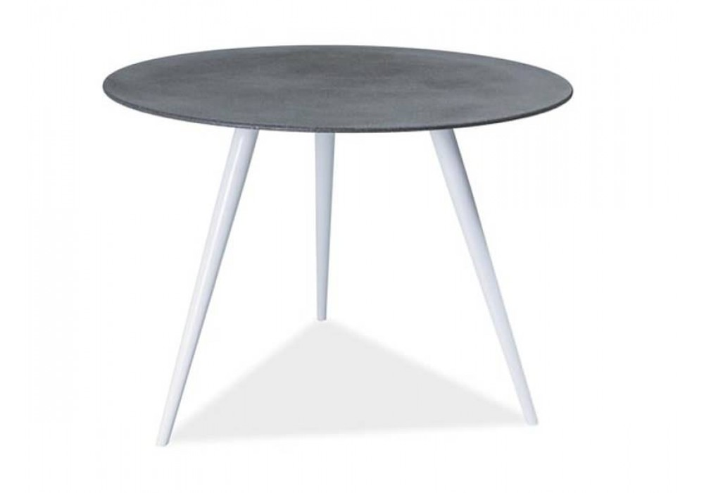 Стол обеденный SIGNAL EVITA серый\белый, 100/76