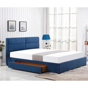 Кровать HALMAR MERIDA синий, 160/200