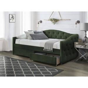 Кровать HALMAR ALOHA 90 темно-зеленая
