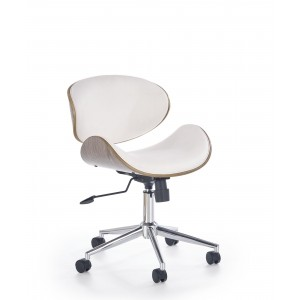 Кресло компьютерное HALMAR ALTO белый/светлый дуб