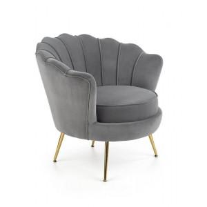 Кресло HALMAR AMORINITO серый/золотой