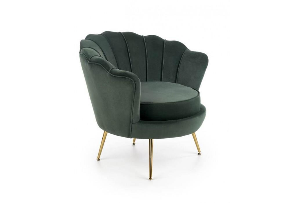 Кресло HALMAR AMORINITO темно-зеленый/золотой