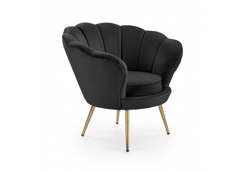 Кресло HALMAR AMORINO черный/золотой