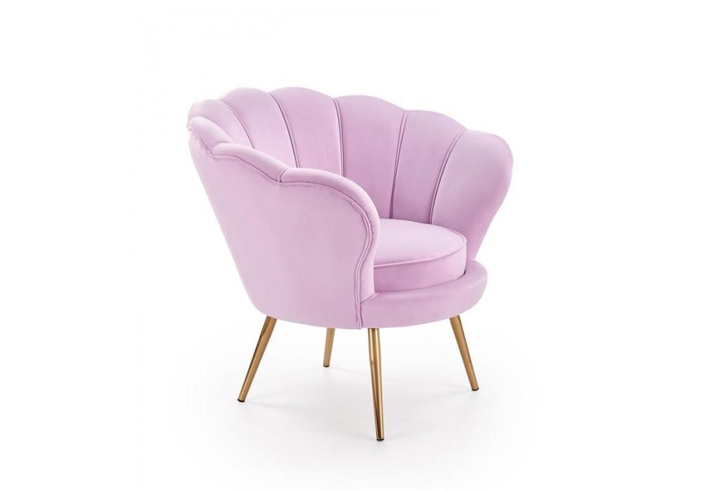 Кресло HALMAR AMORINO фиолетовый/золотой