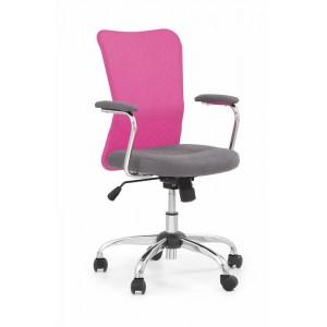 Кресло компьютерное HALMAR ANDY серый/розовый