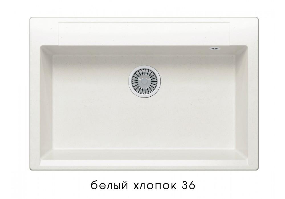 Мойка POLYGRAN ARGO-760 №36 белый хлопок