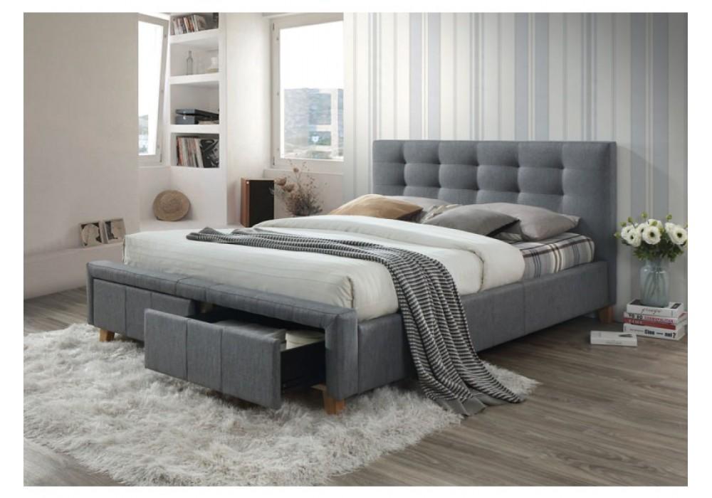 Кровать SIGNAL ASCOT серый, 160/200