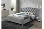 Кровать SIGNAL ASPEN VELVET серый, 160/200