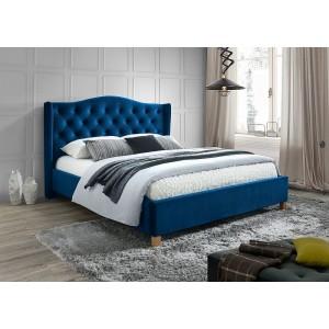 Кровать SIGNAL ASPEN VELVET темно-синий, 160/200