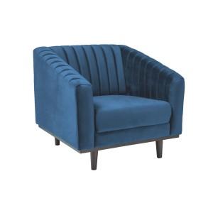 Кресло SIGNAL ASPREY 1 VELVET Bluvel86, темно-синий