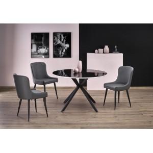 Стол обеденный HALMAR AVELAR черный/белый, 120/76