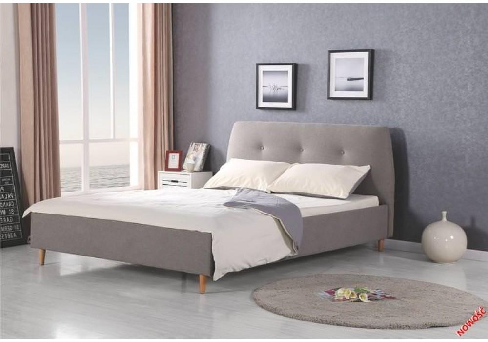 Кровать HALMAR DORIS серая\ольха