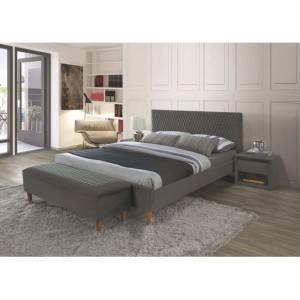 Кровать SIGNAL AZURRO VELVET BLUVEL 14 серый/дуб, 180X200