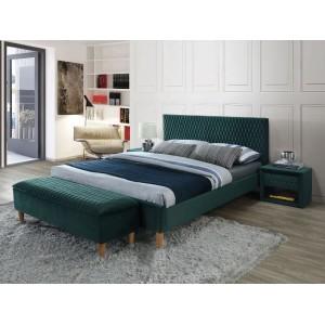 Кровать SIGNAL AZURRO VELVET BLUVEL 78 зеленый/дуб, 140X200