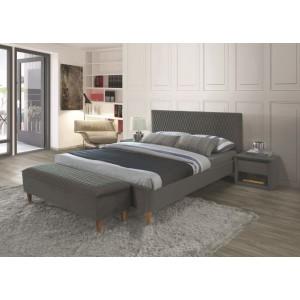 Кровать SIGNAL AZURRO VELVET серый/дуб, 160/200
