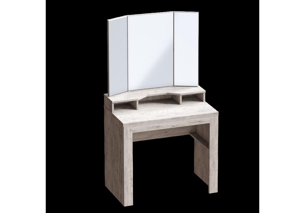 """Туалетный столик  МС""""Соренто"""" (дуб бонифаций/кофе структурный матовый)"""