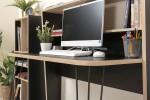 """Комплект домашний офис """"Базис 3"""" Вариант 2(Черный/Дуб сонома)"""