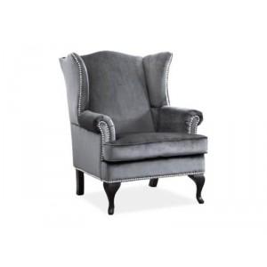 Кресло SIGNAL BENJAMIN 1 VELVET TAP.167 серый/венге