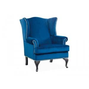 Кресло SIGNAL BENJAMIN 1 VELVET TAP.166 темно-синий/венге