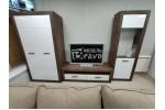 Шкаф для платья и белья Бергамо (Таксус/Орех лесной, Белый)  фабрика Браво Мебель