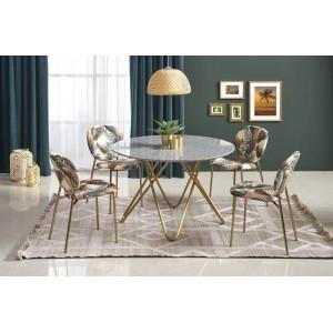Стол обеденный HALMAR BONELLO серый мрамор/золотой, 120/76