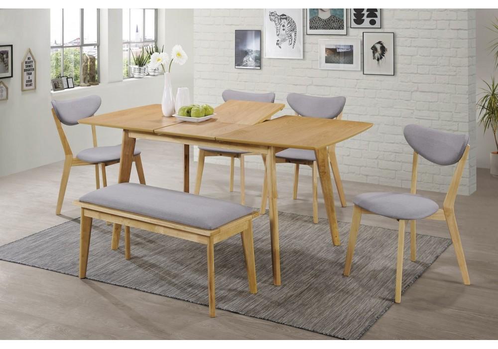 Стол обеденный SIGNAL BRANDO 120 раскладной, дуб, 120-160/80/75