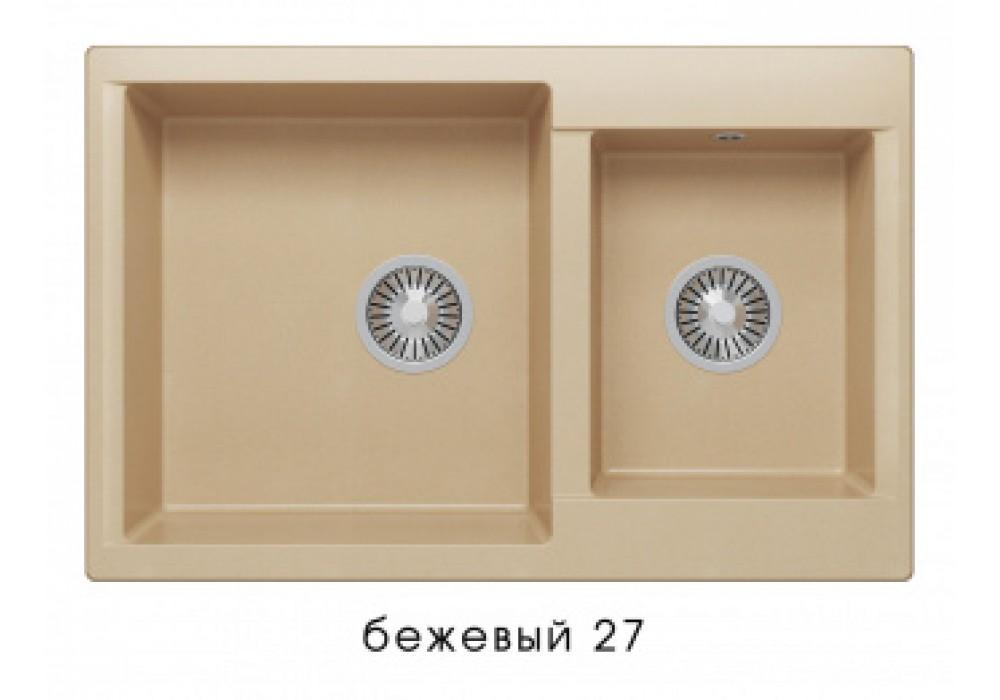 Мойка POLYGRAN BRIG-772 №27 бежевый