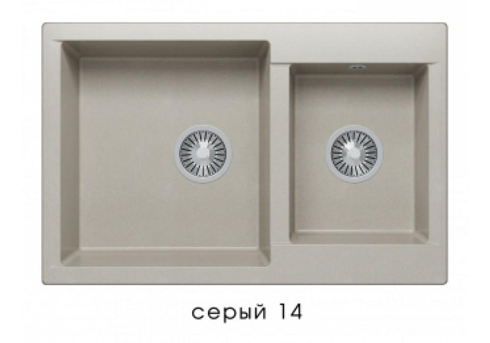 Мойка POLYGRAN BRIG-772 №14 серый