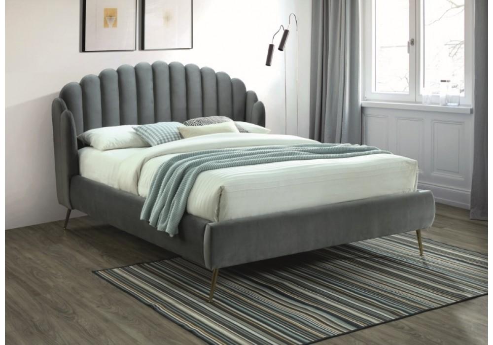 Кровать SIGNAL CALABRIA VELVET серый, 160/200