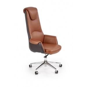 Кресло компьютерное HALMAR CALVANO светло-коричневый/темно-коричневый