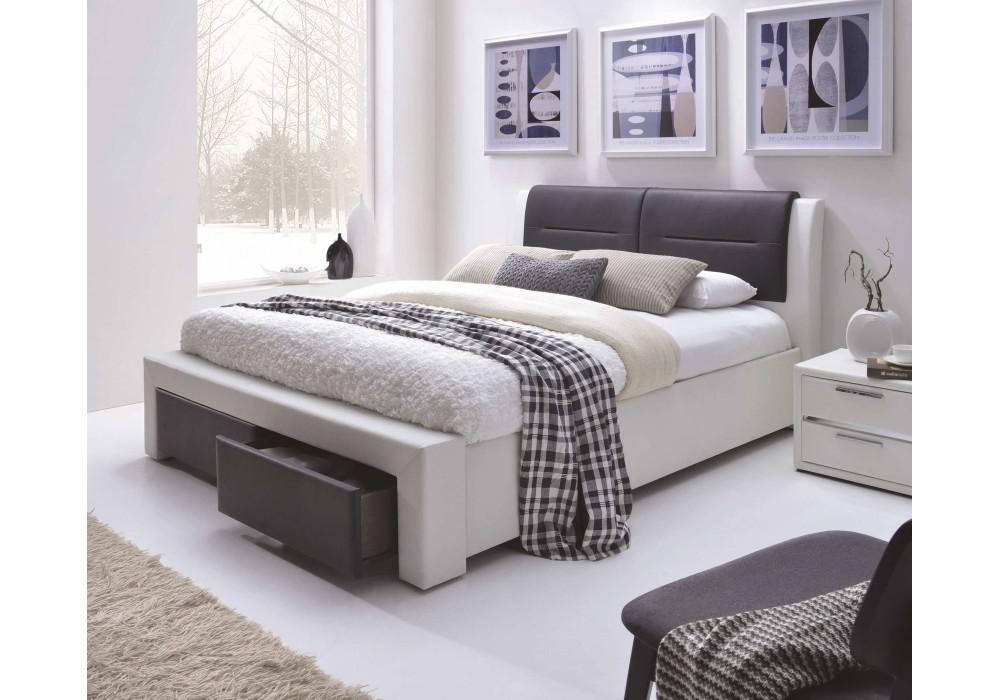 Кровать HALMAR CASSANDRA S бело/черная