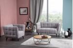 Кресло SIGNAL CASTELLO 1 LIRA 09 светло-серый