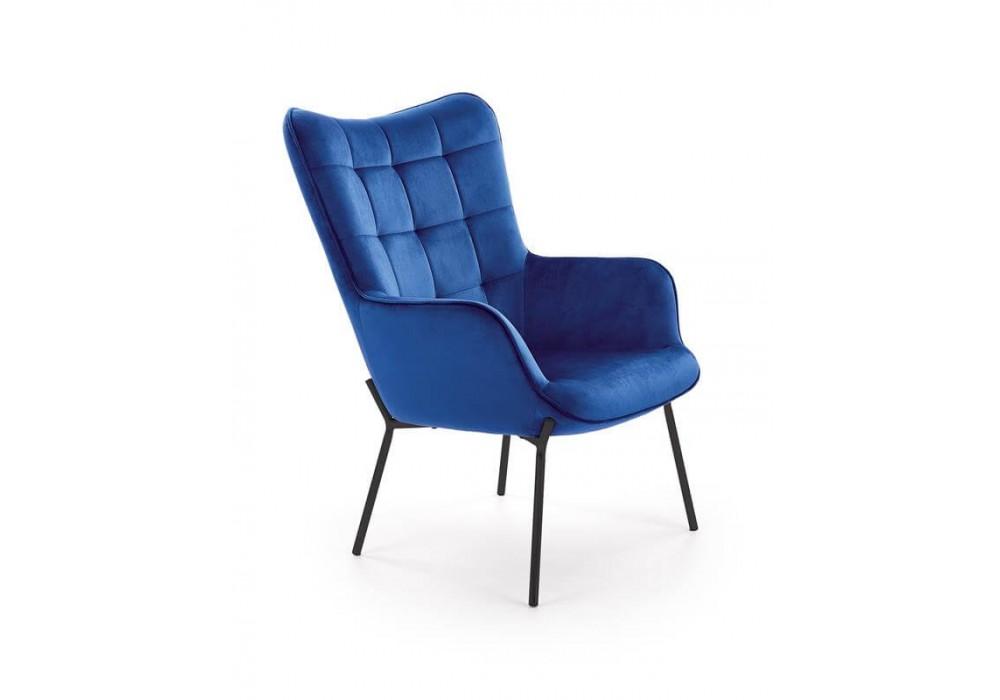 Кресло HALMAR CASTEL темно-синий/черный