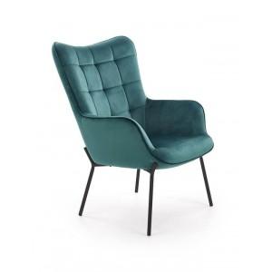 Кресло HALMAR CASTEL темно-зеленый/черный