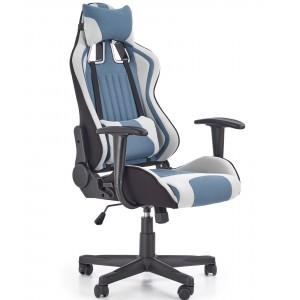Кресло компьютерное HALMAR CAYMAN светло-серый/бирюзовый