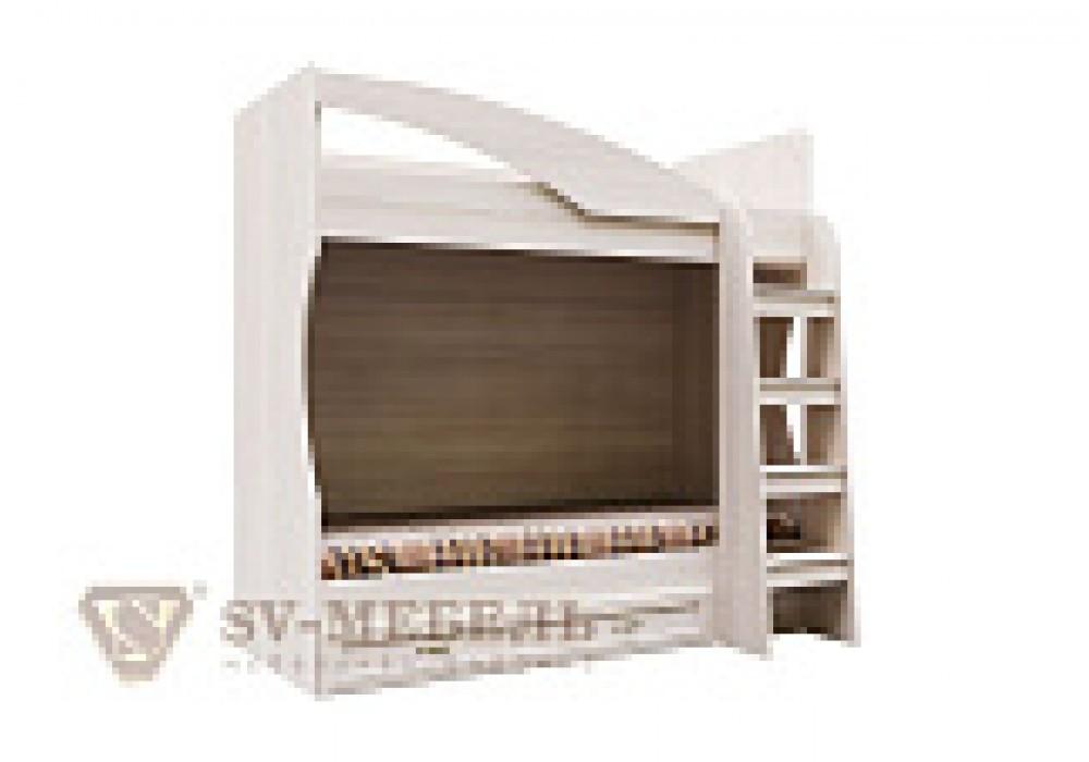 Кровать двухъярусная с ящиком SV-МЕБЕЛЬ ДМ-16 (МС Вега К) Сосна Карелия 80/186