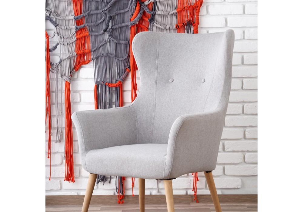 Кресло Halmar COTTO светло-серый