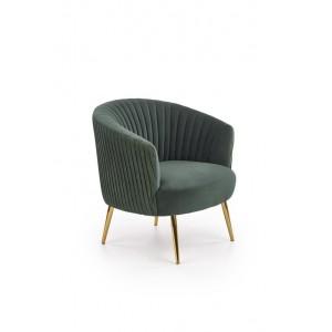 Кресло HALMAR CROWN (темно-зеленый/золотой)