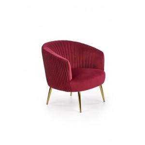 Кресло HALMAR CROWN бордовый/золотой
