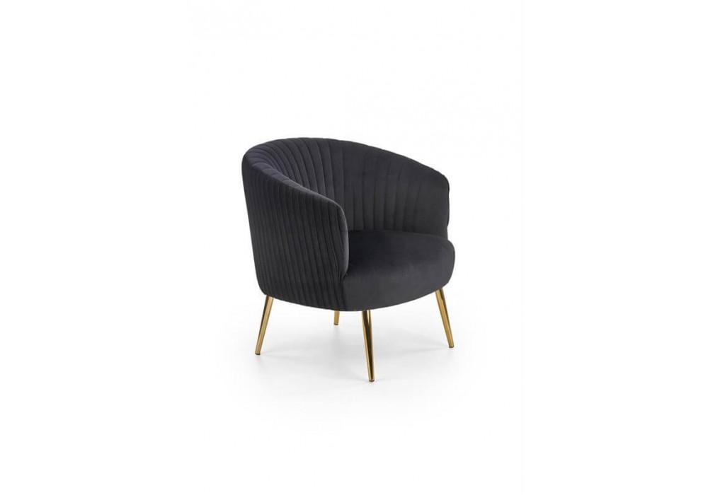 Кресло HALMAR CROWN черный/золотой
