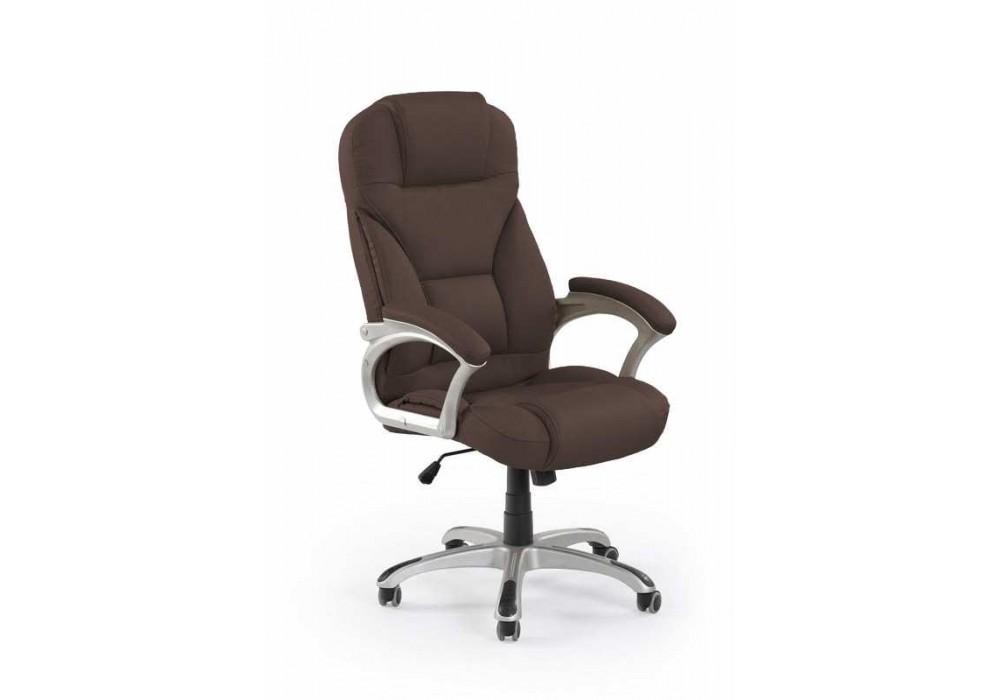 Кресло компьютерное HALMAR DESMOND т.коричневый
